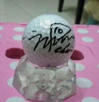 棒球天地--賣場唯一--LPGA高爾夫球台灣賽南韓崔蘿蓮최나연簽名球.字跡漂亮--2