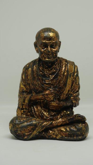 (希瓦利佛牌殿) 2401 阿占多自身像 玉佛寺 供奉型 銅 9x6.5x5.5cm