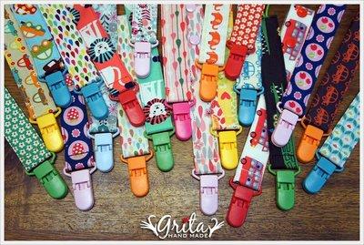 ♥grita s handmade♥純棉手作嬰兒奶嘴鍊、防掉落帶 可綁奶嘴/玩具/固齒器(共110花色)