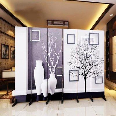 ZIHOPE 訂製 歐式屏風隔斷墻客廳臥室現代簡約時尚折屏移動折疊雙面布藝玄關ZI812