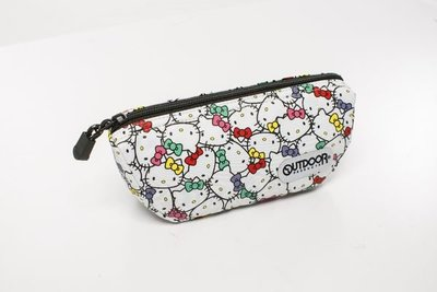 GIFT41 4165本通 三重店 KT OUTDOOR-Hello Kitty聯名款-化妝包 ODKS130245WT
