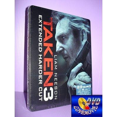 A區Blu-ray藍光正版【即刻救援3-鐵盒版Taken 3 (2014)】[含中文字幕]全新未拆《連恩尼遜》