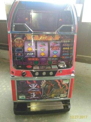 日本原裝機台SLOT 斯洛 北斗神拳-黑王 四號機 家用電玩遊戲機.插電就可玩 非小鋼珠PUB酒店打造自己遊戲空間收藏品