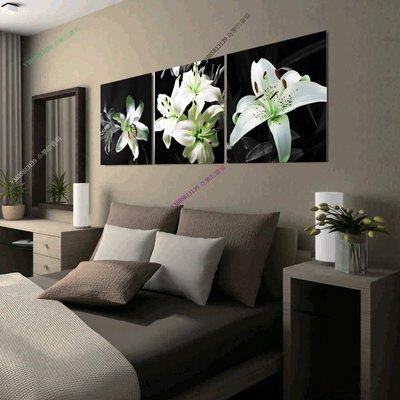 【60*60cm】【厚1.2cm】幽黑百合-無框畫裝飾畫版畫客廳簡約家居餐廳臥室牆壁【280101_327】(1套價格)