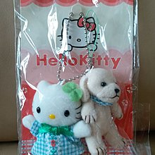 Sanrio Hello Kitty 2002年絕版 公仔 吊飾 匙扣 電話繩 狗 私人珍藏