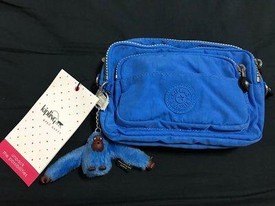 全新Kipling AC2491藍色(BLUE JAY)兩用腰包 側背包