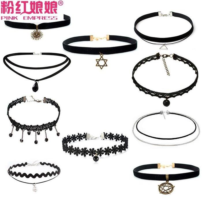 乾一韓版裝飾百搭短款學生短鎖骨鏈女脖子飾品頸帶簡約項鏈手工項圈