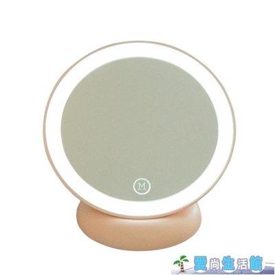 臺式便攜LED帶燈壁掛公主對面化妝鏡LY3778