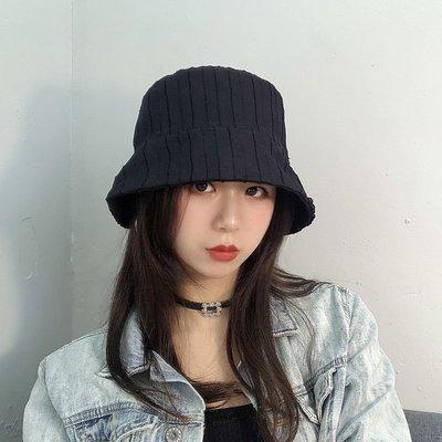 漁夫帽 盆帽-條紋百搭休閒遮陽女帽子4色73xu39[獨家進口][米蘭精品]