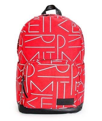 Maple麋鹿小舖 美國購買 primitive * 紅色字母圖樣後背包/可放筆電 *( 現貨 )