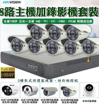 雲蓁小屋【8路1080P主機+監視器套裝】主機 監視器 錄影機 IP數位 攝影機 錄像機 攝像頭