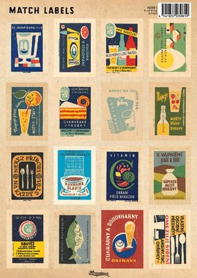 《散步生活雜貨-文具散步》日本進口  Homestead 復古 Match Labels 標籤貼紙-HS981食品
