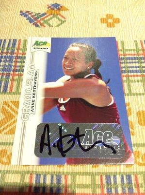 2013 ACE Grand Slam - Anne Keothavong 簽名卡