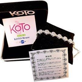 KOTOKOTO 白鋼鍺石負離子能量手鍊-滿天星水晶鑽款(1入) 限量 原廠製造 外銷品牌 精品絕版 母親節贈禮