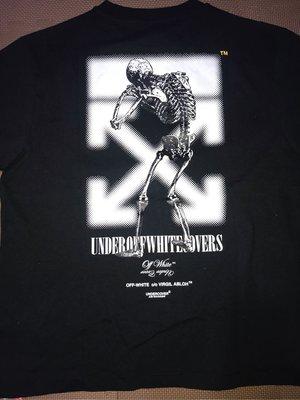 Off-White Undercover Skeleton Dart T-Shirt 限量聯名短袖黑色短袖