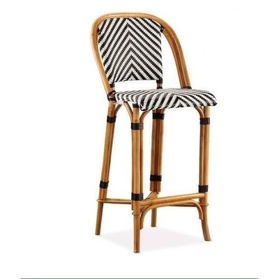 New 進口 雅痞藤椅 編織 吧檯椅 高腳椅