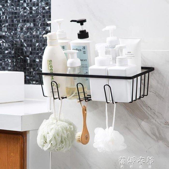 YEAHSHOP 免打孔浴室置物架衛生間洗漱掛籃壁掛瀝水收納籃收納架Y185