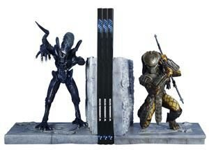 凹盒 2005 AVP Alien vs Predator polystone bookends 異形 vs 鐵血戰士
