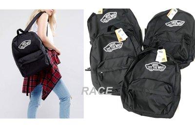 【RACE】VANS REALM BACKPACK 背包 後背包 基本款 白LOGO 經典 滑板 男女 黑