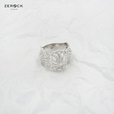 《ZEROCK》ANVIOLOGY HANDCRAFT 冶金工邏輯 925純銀 敲花三貝戒 戒指 燻黑版本