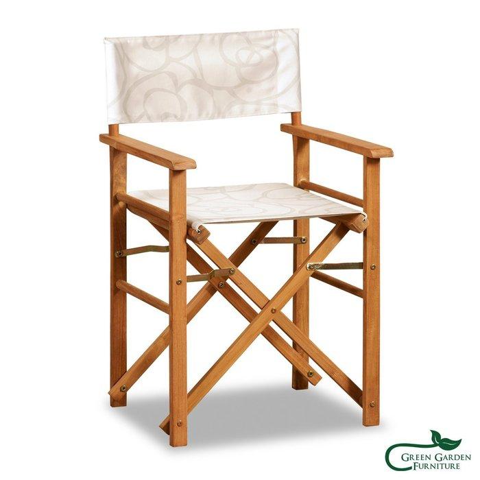 柚木 露營折疊導演椅A【大綠地家具】100%印尼柚木實木/戶外休閒椅/單人椅/餐椅/摺疊椅好收納