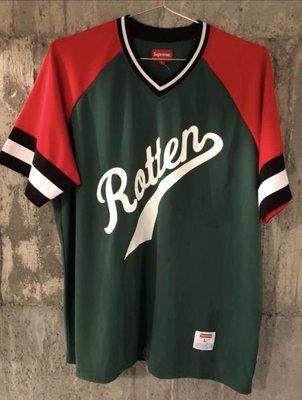 SUPREME Rotten Baseball Top gucci 紅綠 配色棒球衣 large 只穿過一次