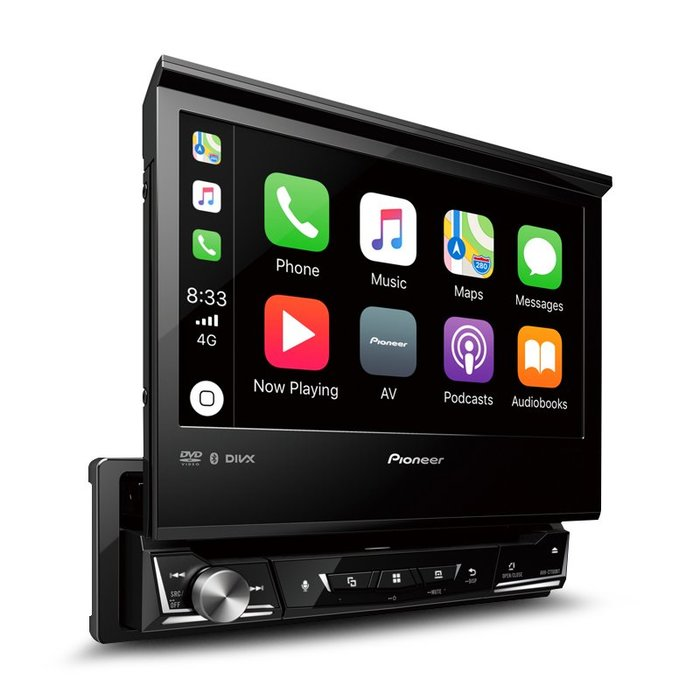 【Pioneer】 AVH-Z7250BT CARPLAY/DVD/1Din 伸縮螢幕主機