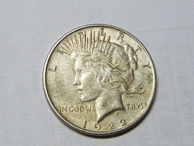 【鑒 寶】(世界各國錢幣)美國和平鴿1922年1元大銀幣 好品相 5 XWW0769