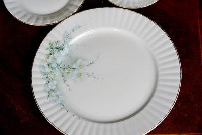 【旭鑫骨瓷】Royal Stafford小白花系列 英國 瓷器 骨瓷 圓盤 (C.17)