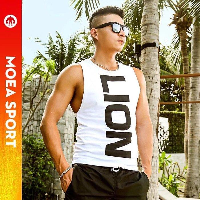 【OTOKO Men's Boutique】MOEA墨立方:基本款運動透氣背心/白黑色(台灣獨家代理)