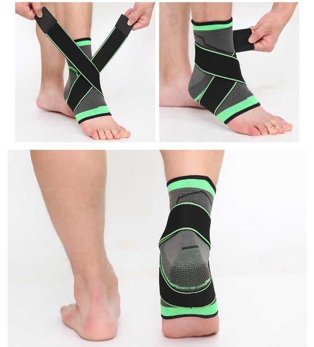 運動戶外登山 藍足排球類重量訓練保護腳踝護具(單只價位)