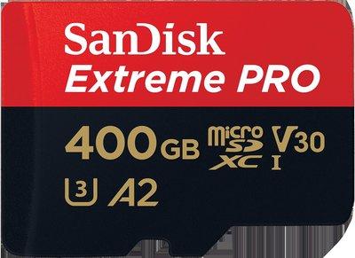 SANDISK Extreme Pro microSDXC 400GB 400G V30 U3 A2 170MB 記憶卡