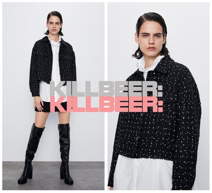 KillBeer:身為名媛的自傲之 歐美復古法式小香風經典撞色寶石排扣做就抽鬚搖滾編織毛呢短版外套夾克010603