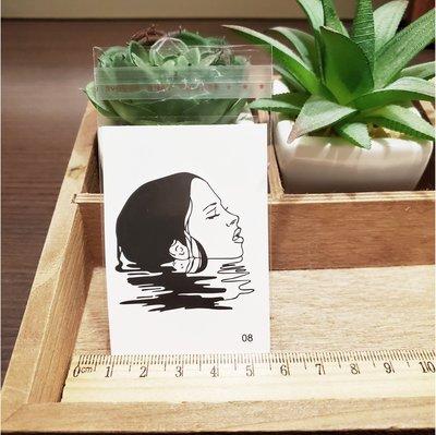 【萌古屋】百態人生08單圖 - 男女防水紋身貼紙刺青貼紙 K43