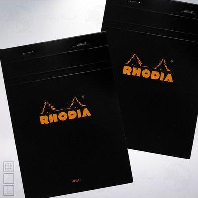 法國 RHODIA Head-Stapled Notepad A5 上掀式筆記本: 黑色/Black