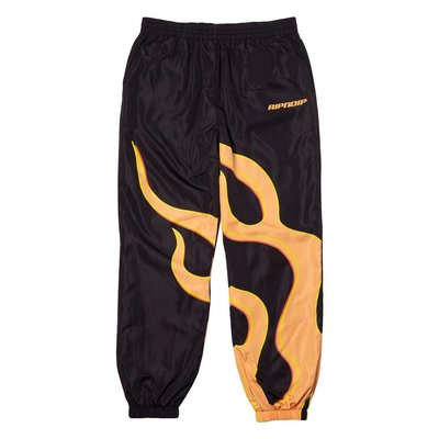 { POISON } RIPNDIP FLAMING HOT TRACK PANTS 大型火燄中指貓風褲