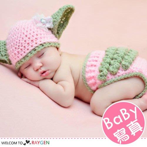 HH婦幼館 寶寶動漫星際粉花朵針織帽2件/組 攝影寫真【2X103M418】
