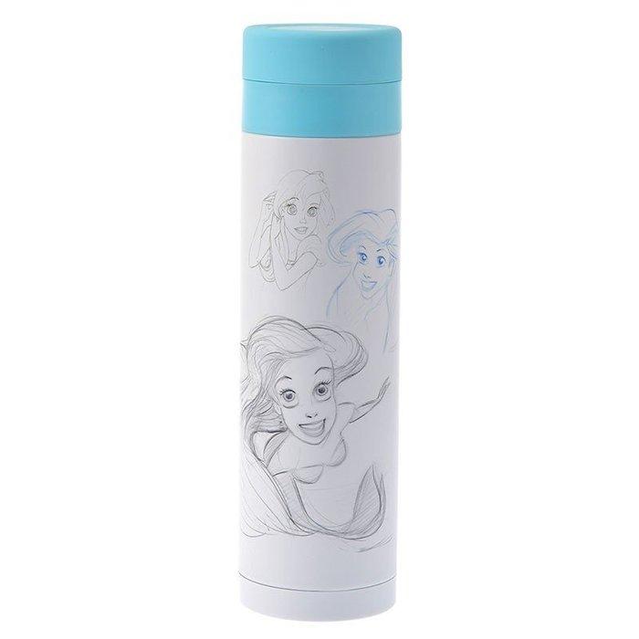 現貨不必等 迪士尼 小美人魚  Ariel 30週年 愛麗兒 素描風 不鏽鋼 保溫瓶 4936313798425 c