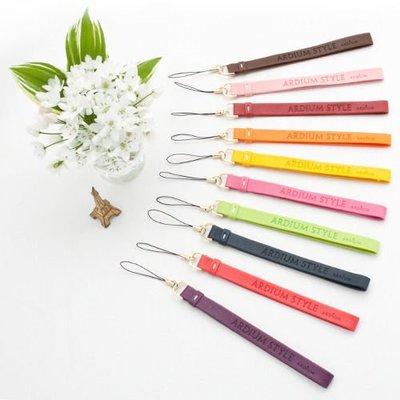 Growlife 種生活 ▶ 韓國 ARDIUM - Color Strap 七彩皮革手機吊飾 / 包包 吊飾 / 鑰匙吊飾 /3C 配件