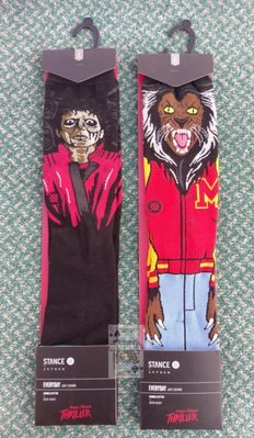 Stance Michael Jackson Thriller 顫慄聯名 狼人殭屍 襪子中筒襪 傳奇音樂天王 麥可傑克森