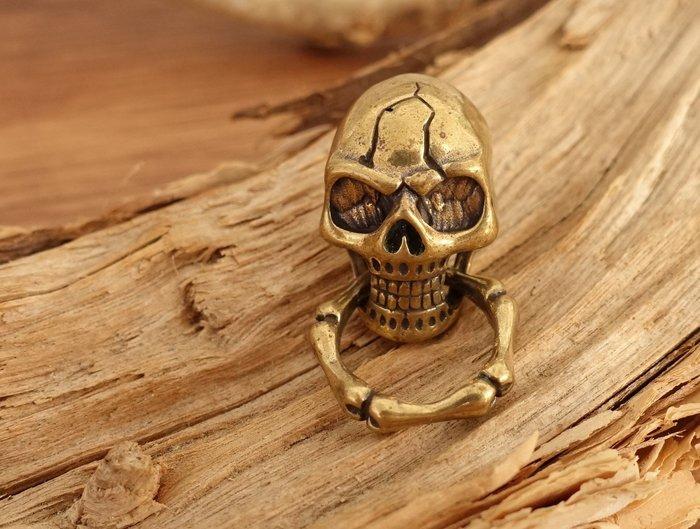 純銅  骷顱頭 裝飾扣 固定扣 鉚釘扣  咬環銅釦  皮革配件  皮革五金 皮革飾品