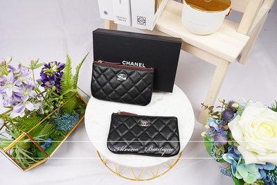 Chanel ㄧ字零錢包 金釦羊皮客訂