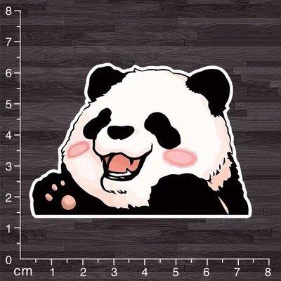 《潮流本舖》可愛貓熊 熊貓 防水貼紙 潮流貼紙 行李箱貼紙 安全帽貼紙 機車貼紙 汽車貼紙 PVC A650