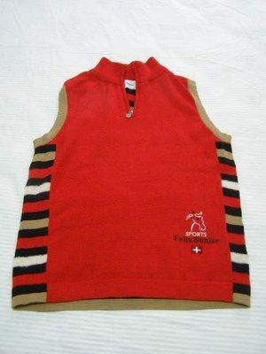 丹丹衣坊--瑞士品牌Felix Buhler紅色彩紋毛背心