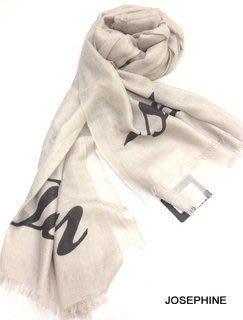 喬瑟芬【TWIN SET】現貨~2014秋冬 淺灰褐色 輕薄100% CASHMERE 喀什米爾 圍巾 披肩