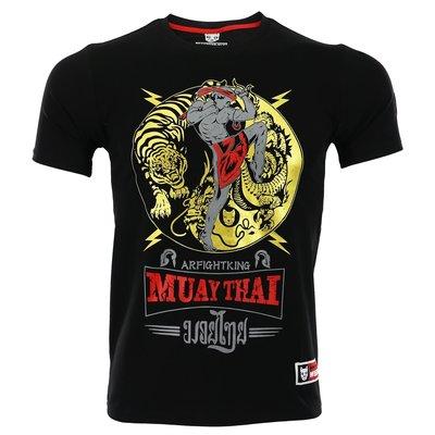 ARFIGHTKING泰拳擊格斗男搏擊短袖T恤MMA健身UFC播求運動訓練夏薄