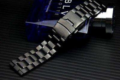 艾曼達精品~20mm=黑色真空離子電鍍sea master 海馬風格不鏽鋼製錶帶非烤漆seiko, citizen雙按式