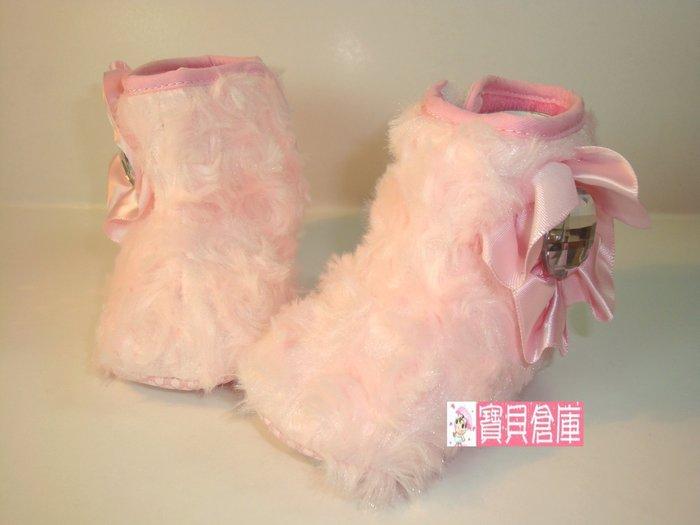 寶貝倉庫~粉花公主雪靴~布底鞋~學步鞋~時尚寶寶鞋~止滑鞋~外貿款~促銷價1雙127