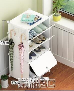鞋櫃 家用簡易鞋柜塑多層料實木紋防塵收納柜子多功能經濟型簡約小鞋架Y-優思思