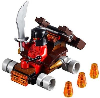 【LEGO樂高】Nexo Knights未來騎士30374 Lava Slinger投石車士兵Crust Smasher